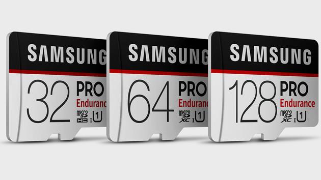 microSD für Videos: Samsungs Pro Endurance soll 5 Jahre am Stück aufzeichnen