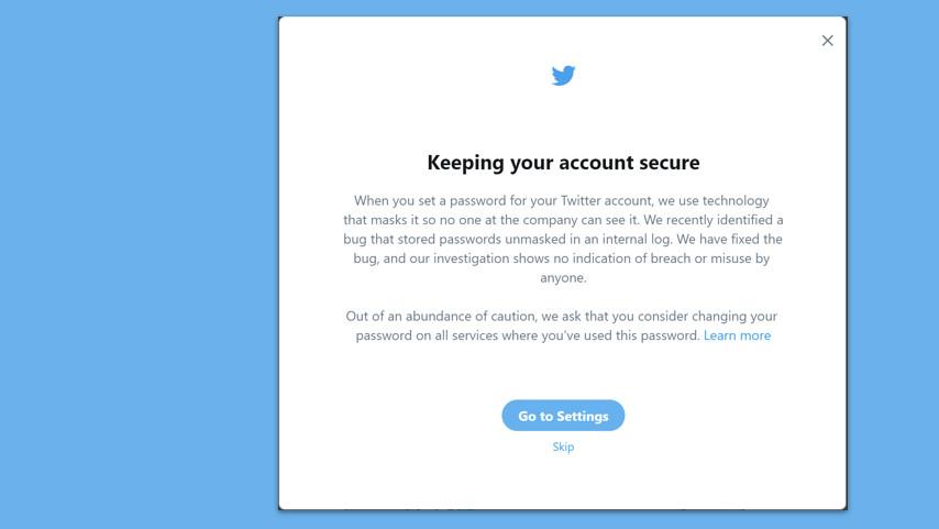 Twitter: Passwörter lagen im Klartext im Log, Wechsel empfohlen