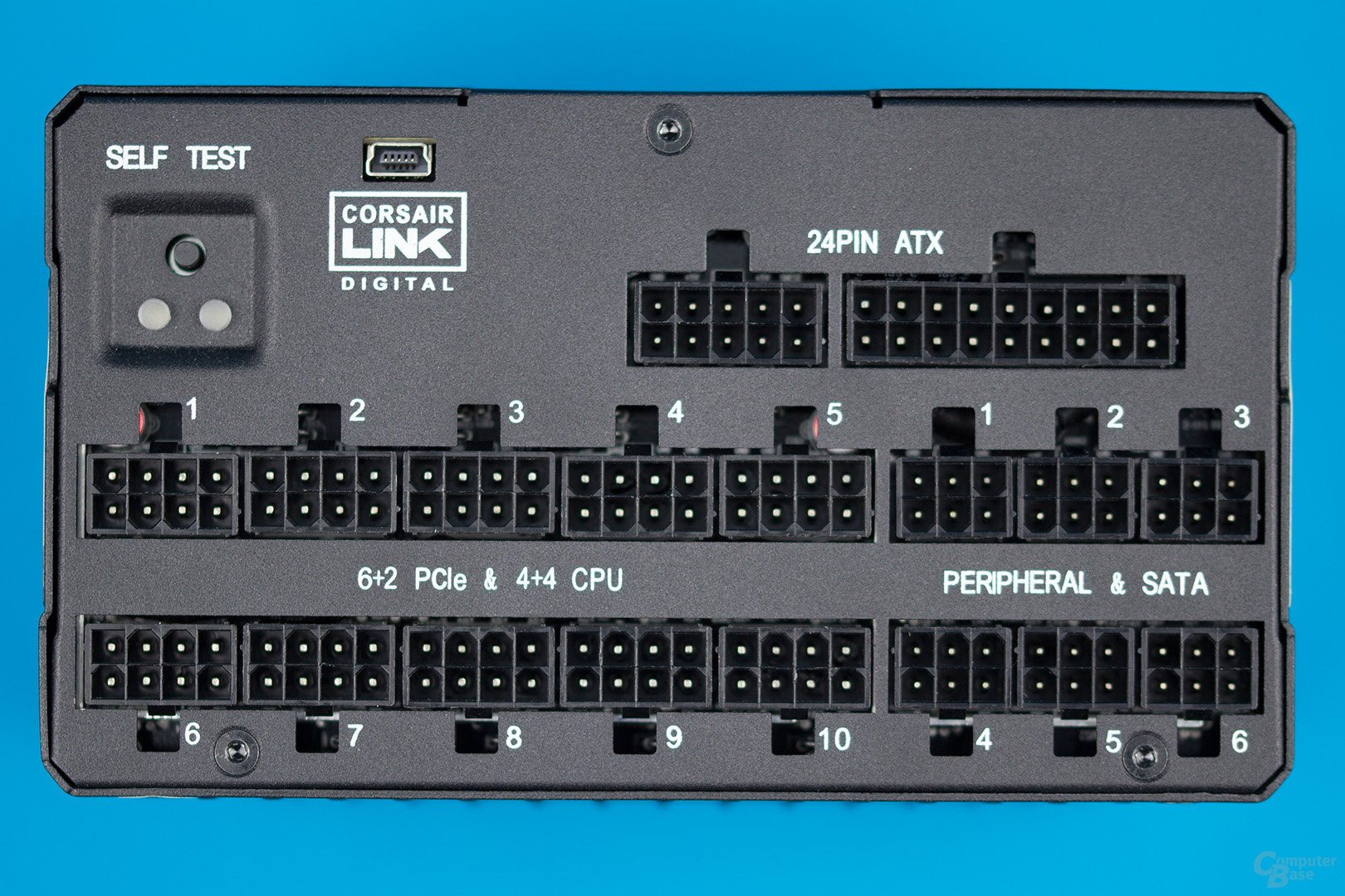 Corsair AX1600i – Anschlussplatine