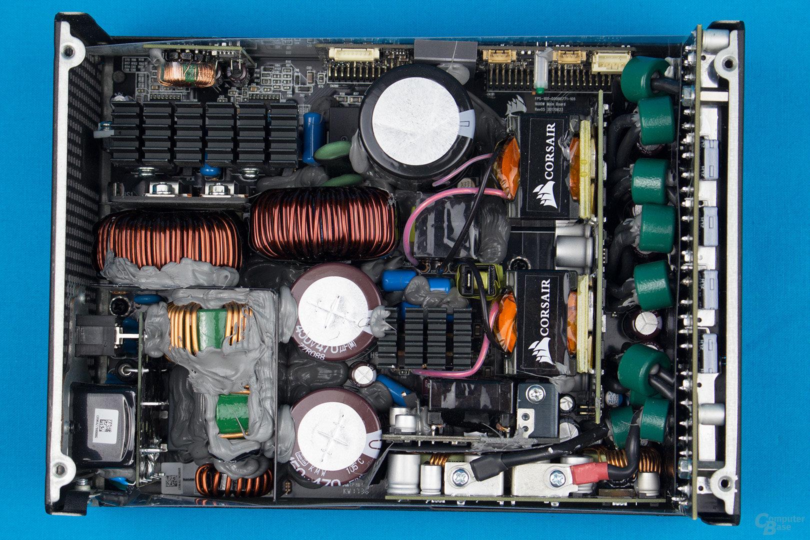 Corsair AX1600i – Überblick Elektronik