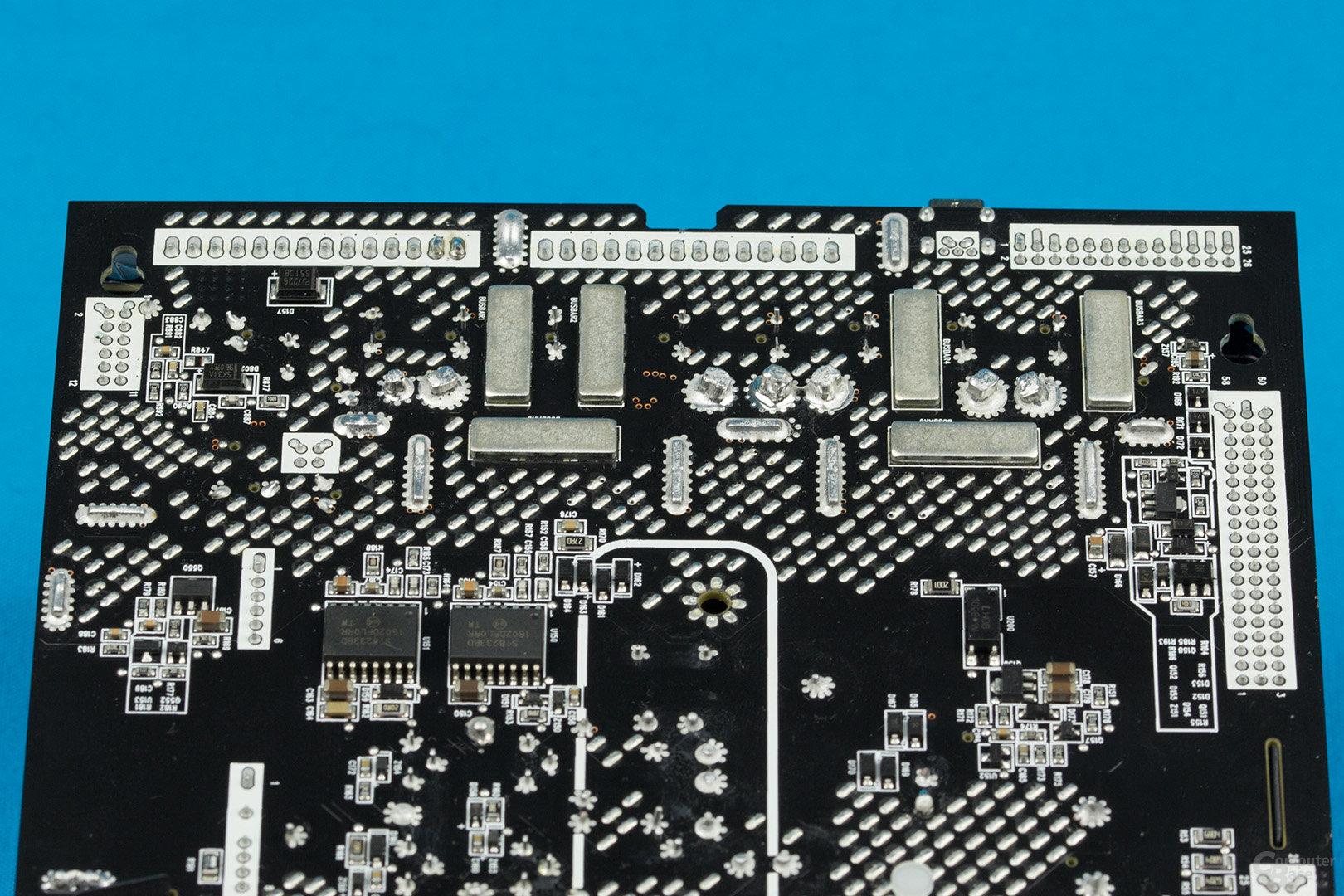 Corsair AX1600i – Lötqualität (Sekundärseite)