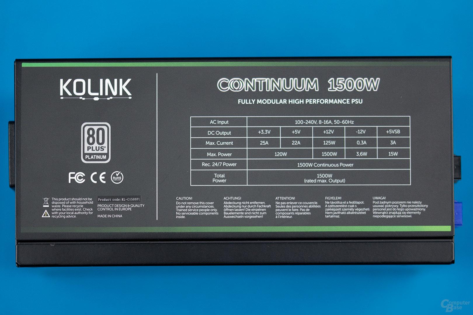 Kolink Continuum 1500W