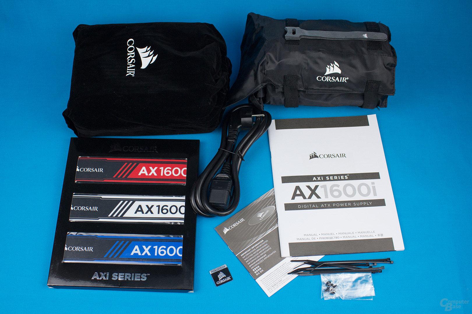Corsair AX1600i – Lieferumfang