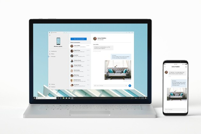App Your Phone spiegelt Android und iOS auf Windows 10