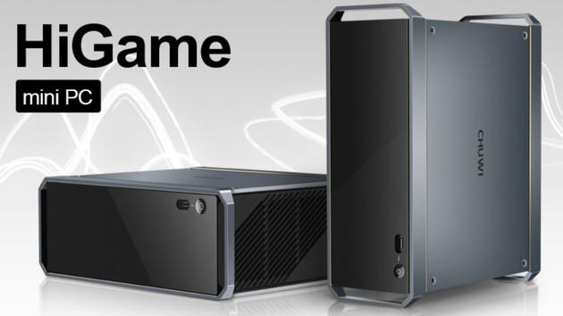 Chuwi HiGame: Mini-PC mit beiden Ausbaustufen von Kaby Lake-G