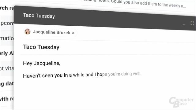 Vorschläge in Gmail