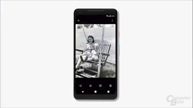 Schwarz-Weiß-Aufnahmen mit Farbe versehen