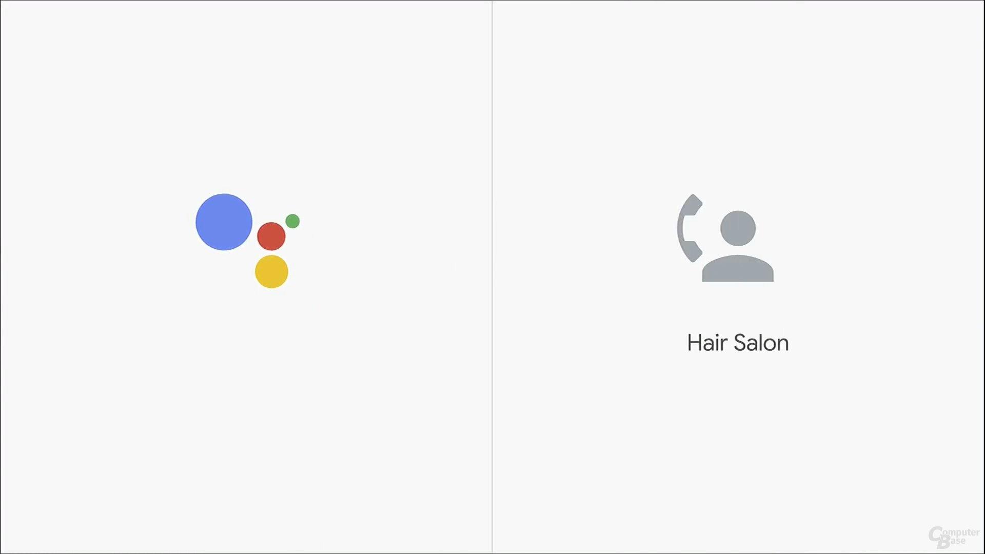 Google Assistant im Gespräch mit einem Friseursalon