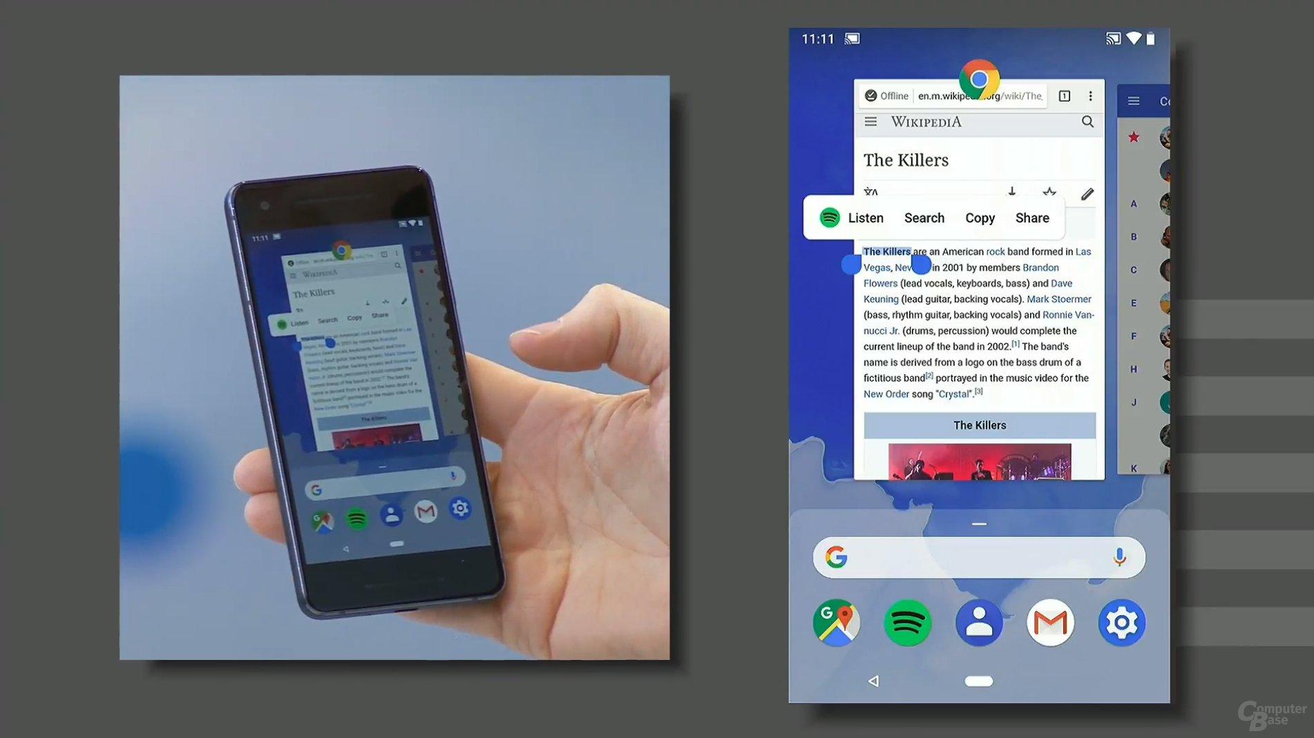 Interaktion mit Apps direkt in der Vorschau