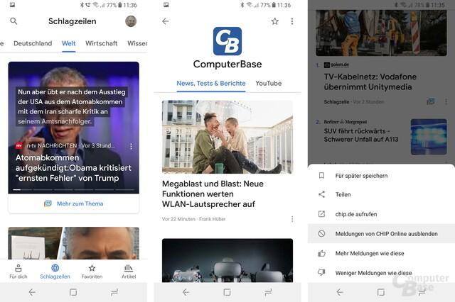 Die neue Google-News-App für Android