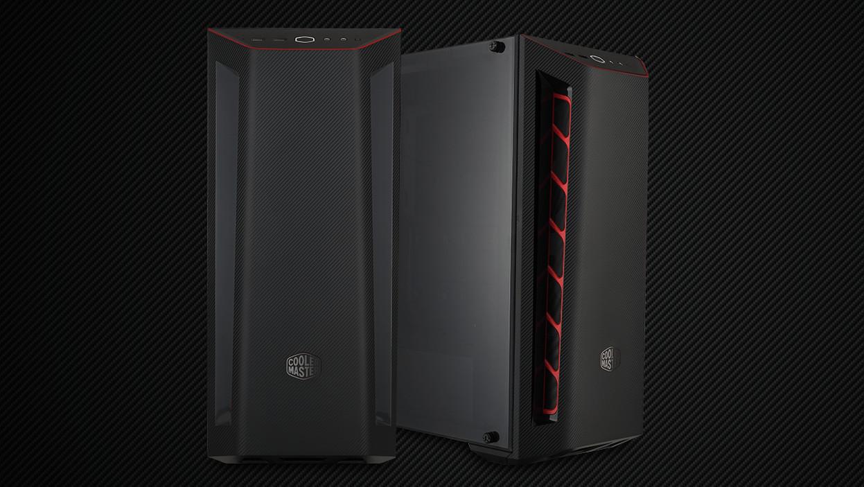 MasterBox MB510L: Midi-Tower trägt Carbon-Look aus dem Rennsport