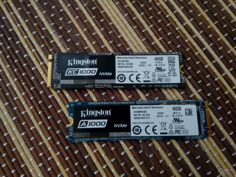 Kingston KC1000 und A1000 mit 480 GB für M.2 (NVMe)