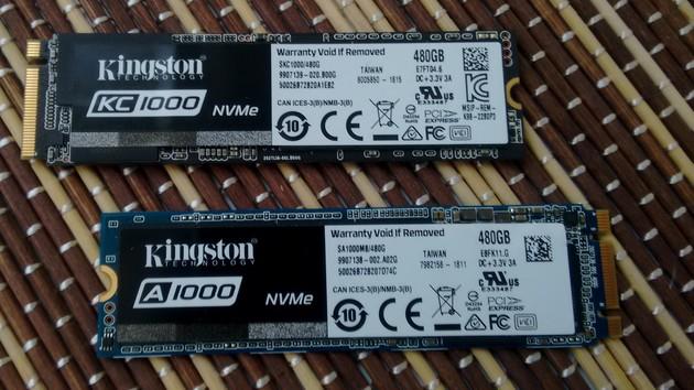 Kingston SSD A1000 & KC1000 im Test: Einmal gut und einmal viel zu schnell zu heiß