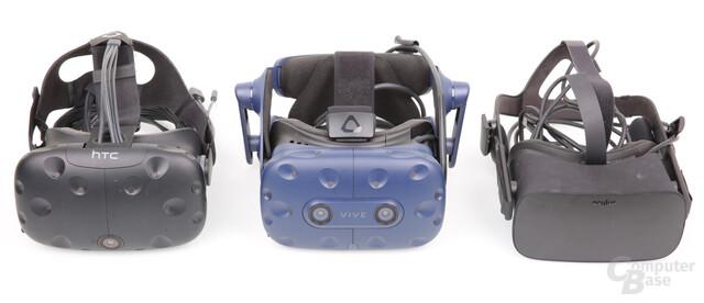 HTC Vive, Vive Pro und Oculus Rift