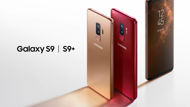 samsung galaxy s9 und s9 in gold und rot kommen im mai. Black Bedroom Furniture Sets. Home Design Ideas
