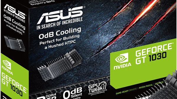 GeForce GT 1030: Asus listet DDR4-Grafikkarte mit passiver Kühlung