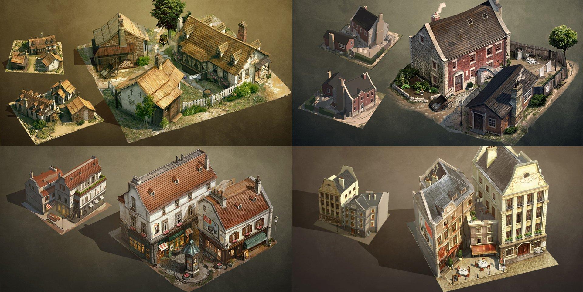 Detaillierte 3D-Modelle