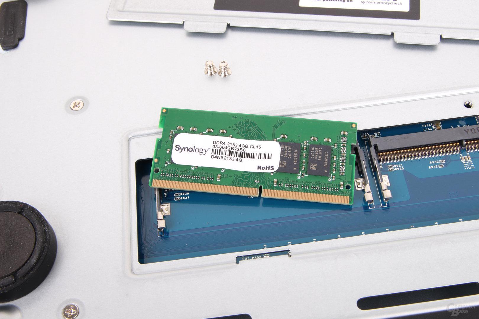 Synology DS1618+ im Test – DDR4-SO-DIMM ohne ECC