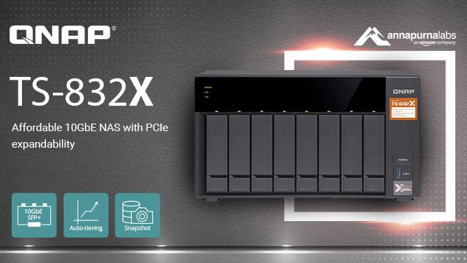 QNAP TS-832X: NAS mit 10GbE, PCIe und bis zu 8 HDDs für 700 Euro