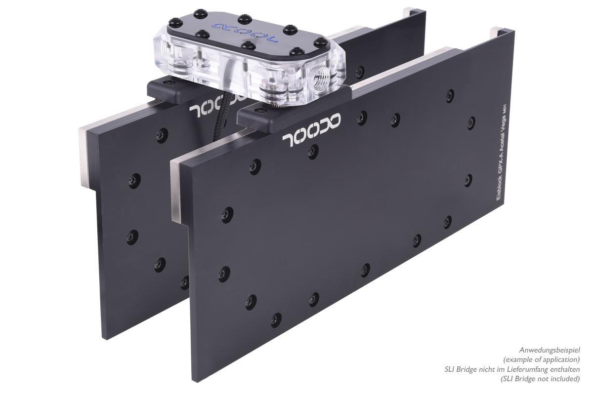 Alphacool Eisblock GPX: Zwei Kühler per SLI-Brücke verbunden