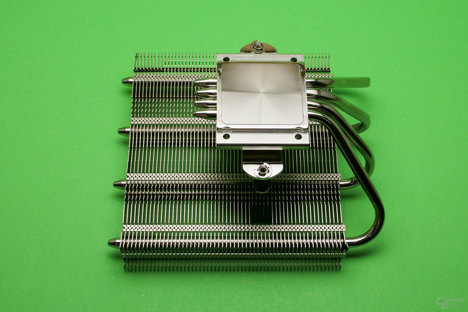 Noctua NH-L12S: Vernickelte Kupferbodenplatte und vier Heatpipes