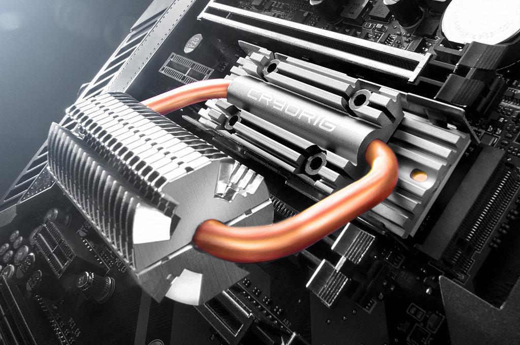 Cryorig Frostbit: M.2-SSD-Kühler mit Heatpipes