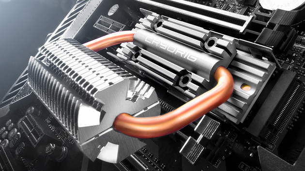 Cryorig: M.2-Kühler mit Heatpipes und RGB-LEDs für den C7