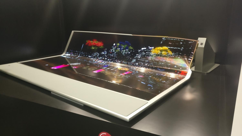Flexible und transparente Videoleinwand von LG