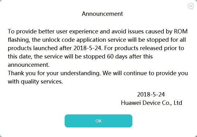 Huawei verzichtet auf Bootloader-Unlock