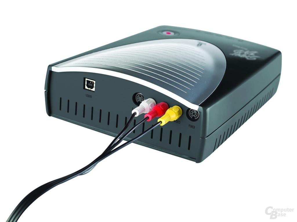 Iomega Super DVD QuikTouch 12x Dual Format USB 2.0 Drive - Rückseite