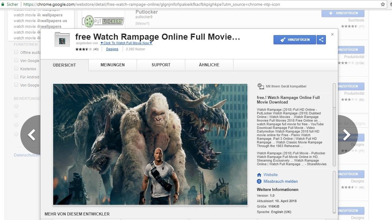 Chrome Web Store: Erweiterungen für Kinofilme zielen auf Kreditkartendaten
