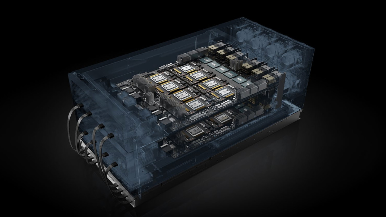 Nvidia HGX-2: 16 GV100-GPUs über NVSwitch jetzt auch als Rack-Einschub