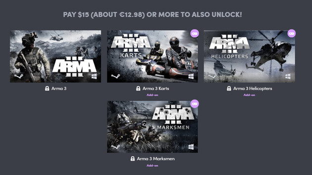 ARMA 2018 Bundle: Bohemias Militärsimulation bei Humble Bundle