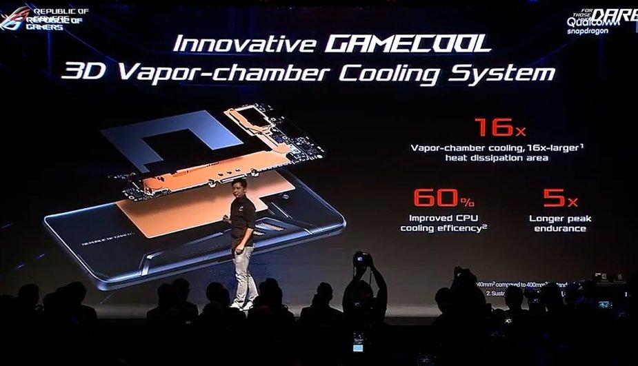 Das Asus ROG Phone mit Vapor-Chamber-Kühlung