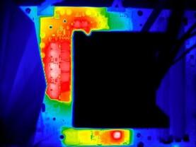 Asus ROG Ryujin: Wärmebild bei deaktiviertem VRM-Lüfter