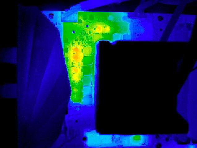 Asus ROG Ryujin: Wärmebild bei aktivem VRM-Lüfter