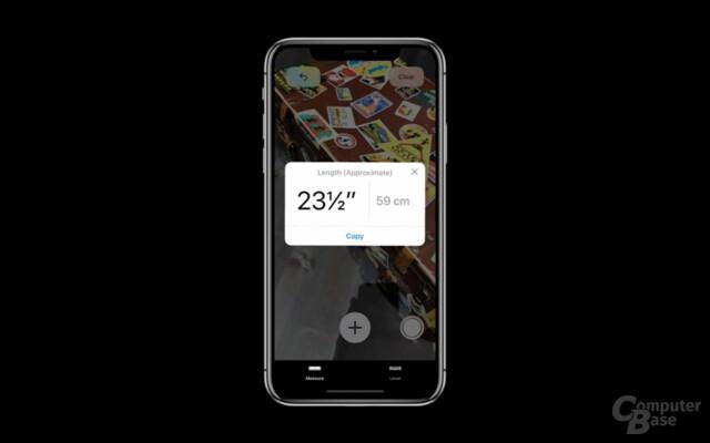 Größen messen mit iOS 12