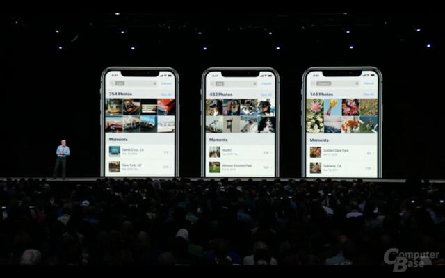 Apple Photos mit Vorschlägen und besserer Semantik