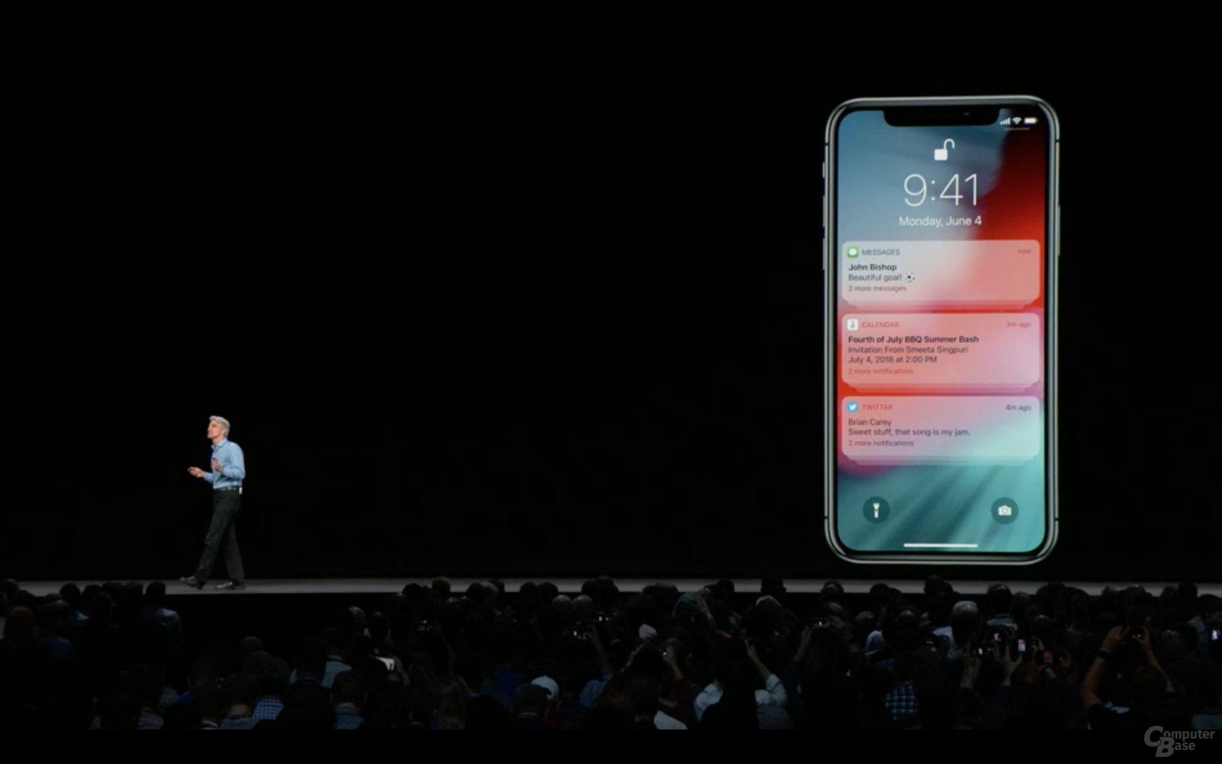 iOS 12 mit gruppierten Benachrichtigungen