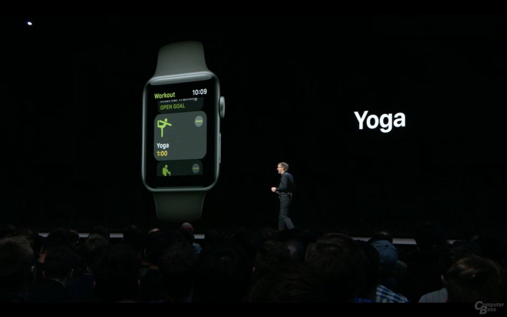 Die Apple Watch erkennt jetzt auch Yoga und Bergsteigen