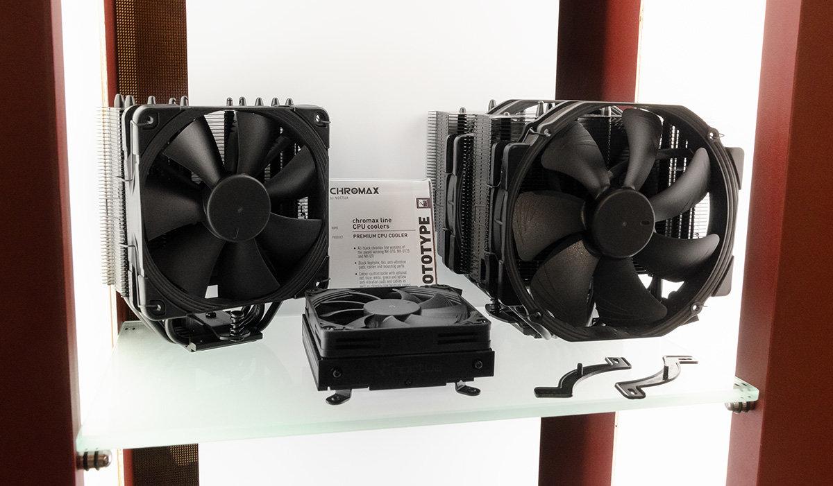 Schwarze Chromax-CPU-Kühler von Noctua