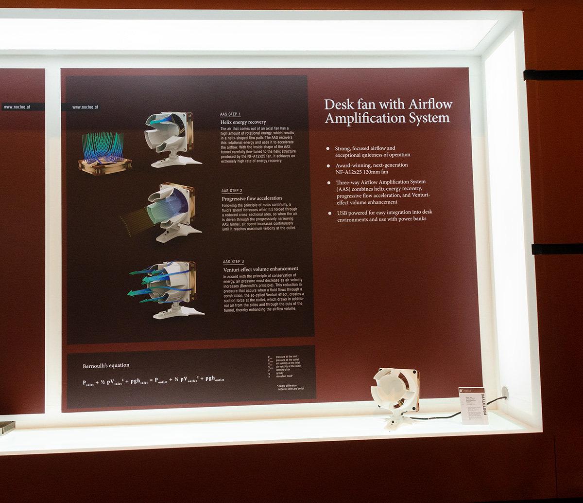 Schreibtisch-Ventilator von Noctua mit Luftkanal