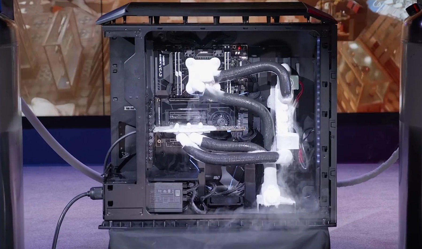 Der EVGA Roboclocker im Einsatz (CPU und GPU)