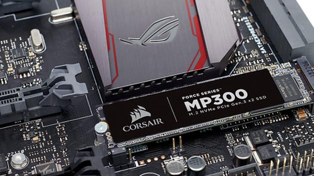 Corsair MP300: NVMe-SSD-Einstiegsmodell mit PCIe-3.0-x2
