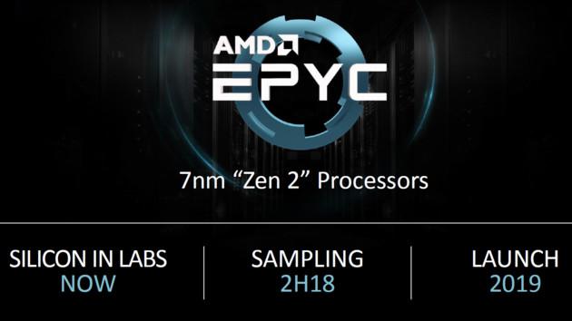 AMD Epyc 2: Zen 2 für Server in 7 nm bereits lauffähig