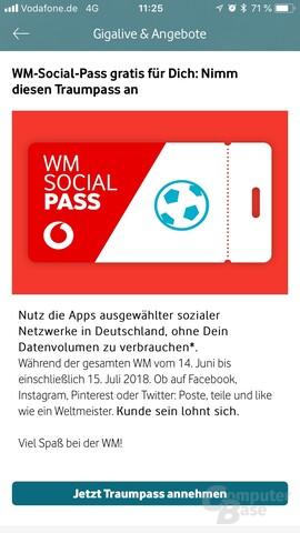 Vodafone Social Pass gratis zur WM