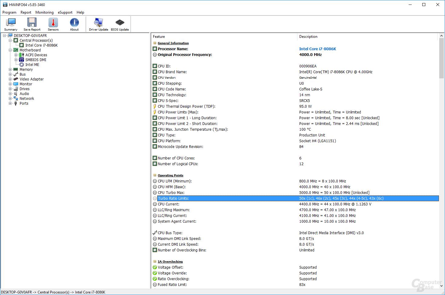 Gigabyte-BIOS mit UnCore-Takt bei 4,7 GHz