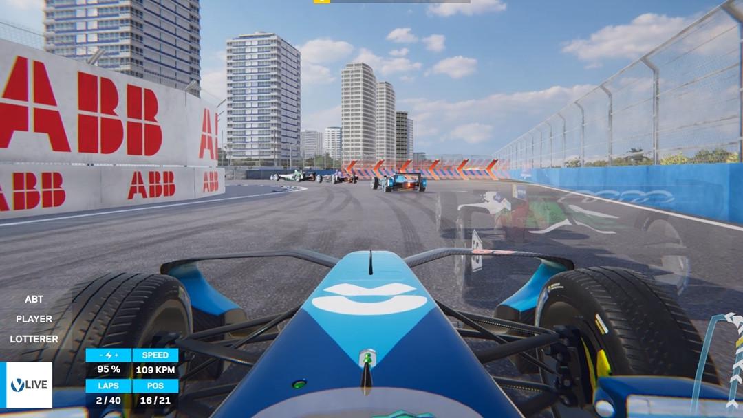 Formel E: Live-Ghost-Racing gegen Rennfahrer