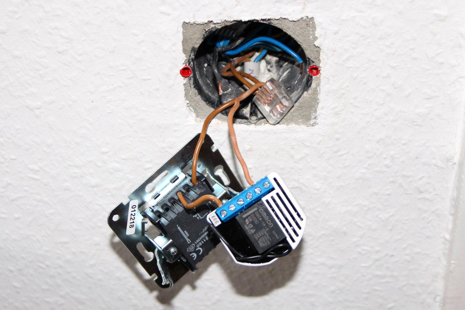 Installation mit Devolo Home Control Unterputz-Schalter