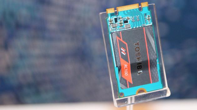 RC100: Toshibas Mini-M.2-SSD mit 1,6GB/s und SATA-Preisniveau